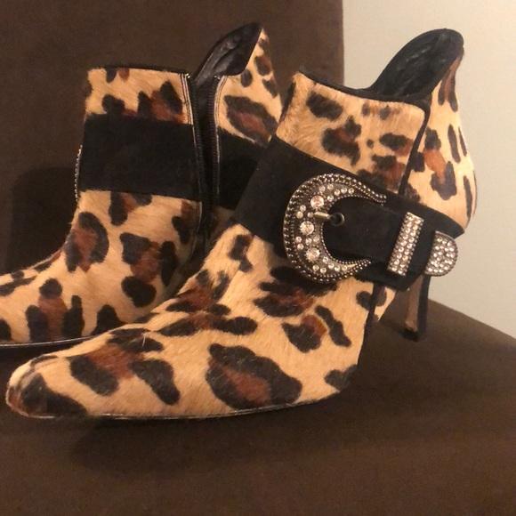 Costa Blanca Shoes - Costa Blanca Calf Hair Leopard Booties